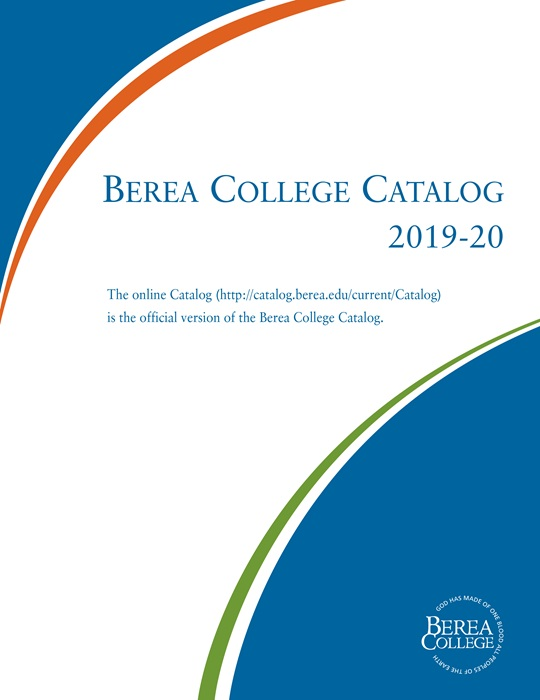 Berea College Catalog Cover Page
